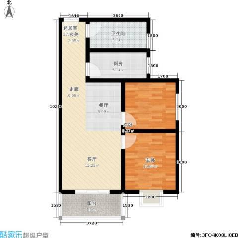 凤鸣华府二期颐和郡2室0厅1卫1厨86.00㎡户型图
