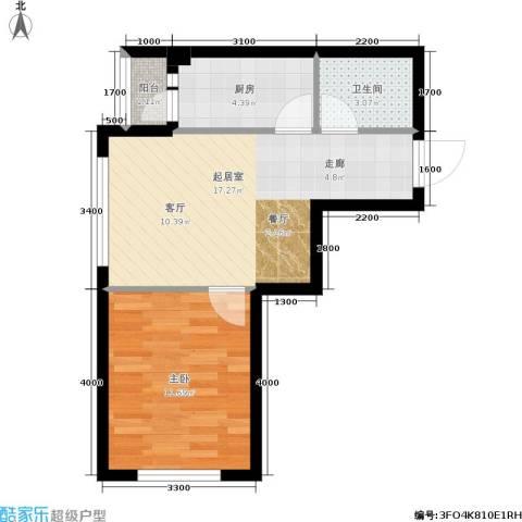 博客地带1室0厅1卫1厨54.00㎡户型图