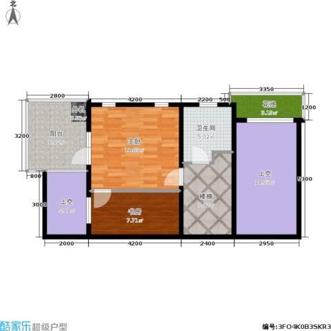 万科城三期一区2室0厅1卫0厨93.00㎡户型图