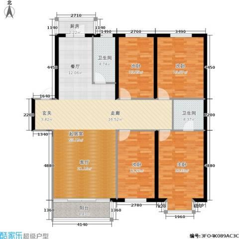 世众宏厦家园4室0厅2卫1厨137.00㎡户型图