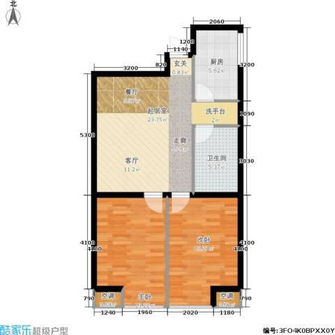 佰世雅阁2室0厅1卫1厨85.00㎡户型图
