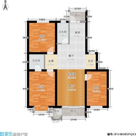 世众宏厦家园3室0厅2卫0厨127.00㎡户型图