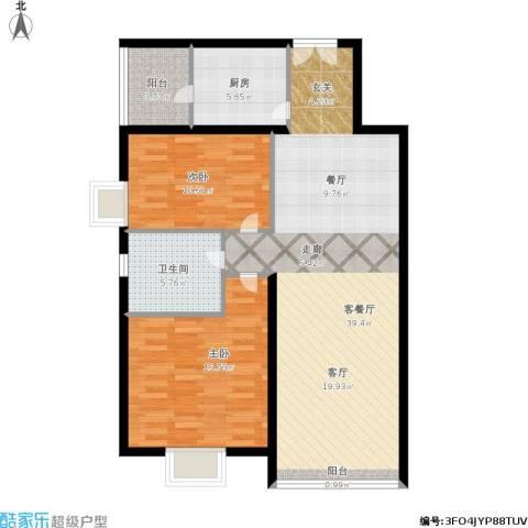 运河明珠家园2室1厅1卫1厨112.00㎡户型图
