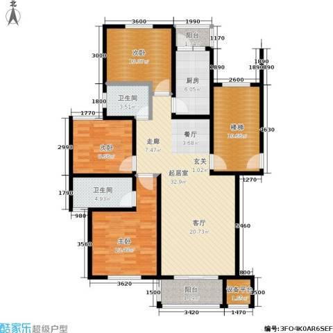 珠港花苑3室0厅2卫1厨101.00㎡户型图