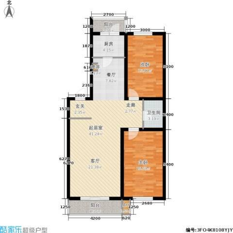红田美林居2室0厅1卫1厨118.00㎡户型图