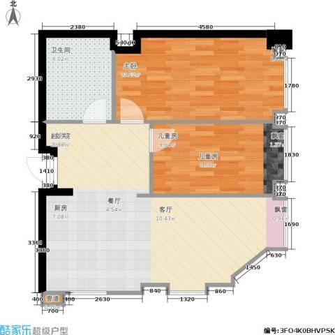 杰特公寓2室0厅1卫0厨78.00㎡户型图