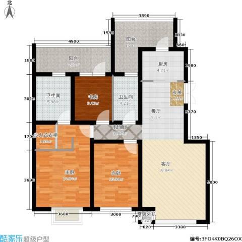 金沙水木城典3室1厅2卫1厨139.00㎡户型图