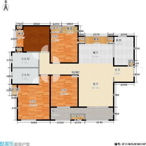 时代上城4室1厅2卫1厨125.00㎡户型图
