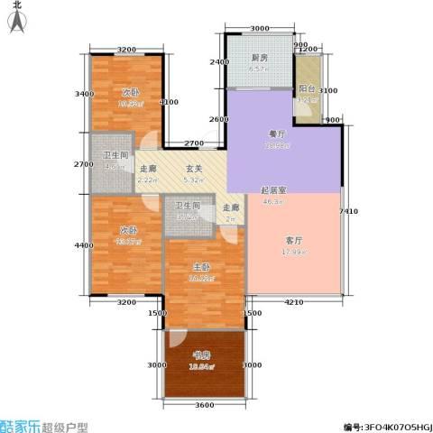 亚瑟蓝湾4室0厅2卫1厨151.00㎡户型图