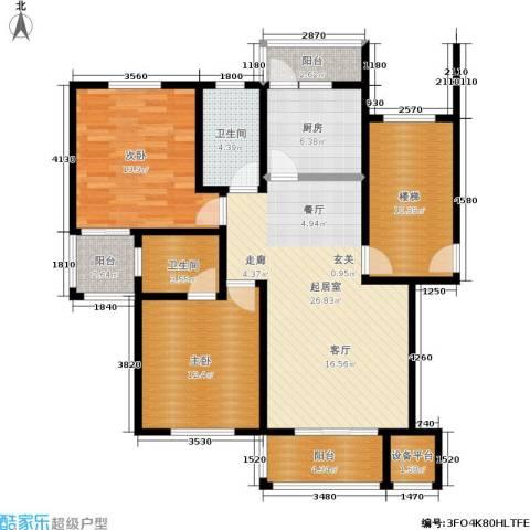 珠港花苑2室0厅2卫1厨93.00㎡户型图