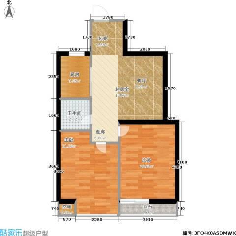 佰世雅阁2室0厅1卫1厨66.00㎡户型图
