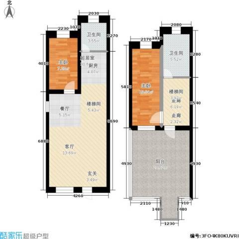 汤城香格里2室0厅2卫0厨101.00㎡户型图