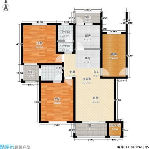 珠港花苑2室0厅3卫1厨93.00㎡户型图