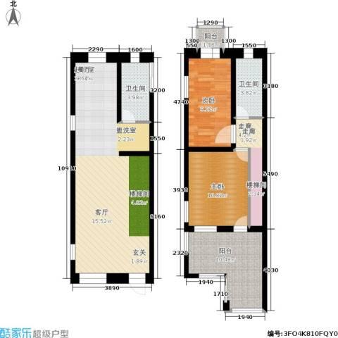 汤城香格里2室0厅2卫0厨90.00㎡户型图