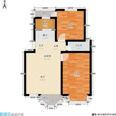 鼎新鼎云都2室0厅1卫1厨60.00㎡户型图