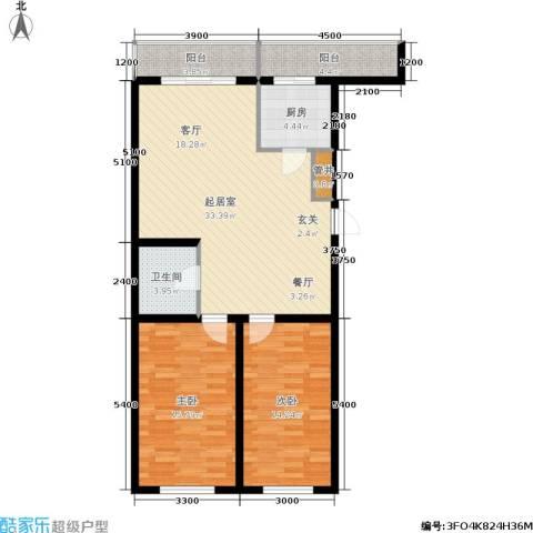 红田美林居2室0厅1卫1厨108.00㎡户型图