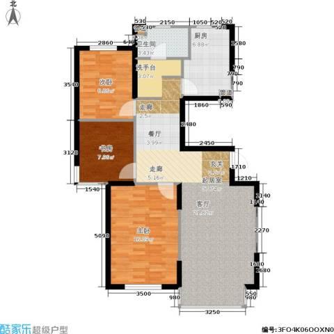 佰世雅阁3室0厅1卫1厨113.00㎡户型图