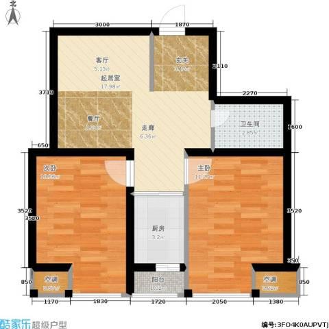 佰世雅阁2室0厅1卫1厨70.00㎡户型图