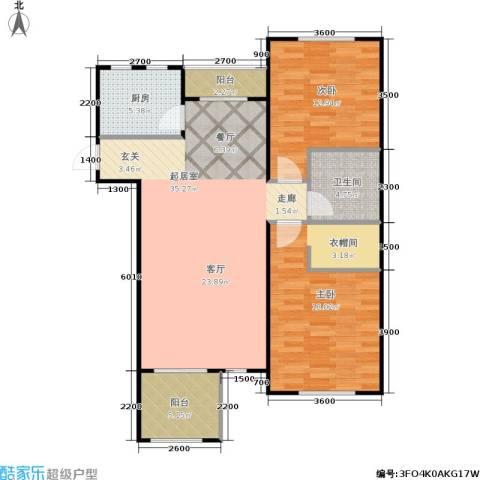 阳光洛可可2室0厅1卫1厨113.00㎡户型图