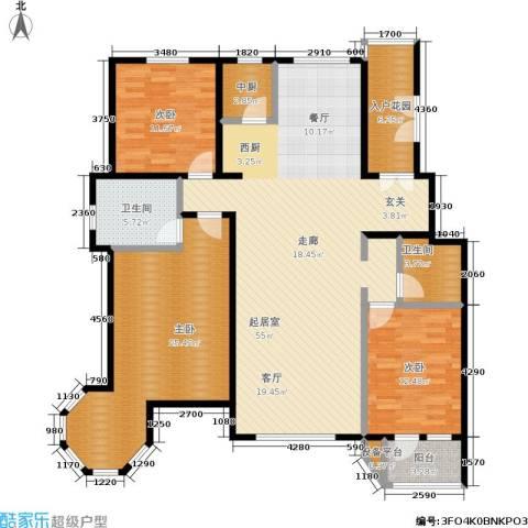 弗莱明戈3室0厅2卫0厨155.00㎡户型图