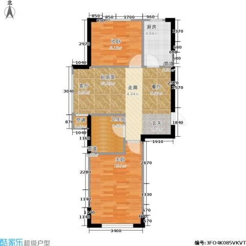 佰世雅阁2室0厅1卫1厨78.00㎡户型图