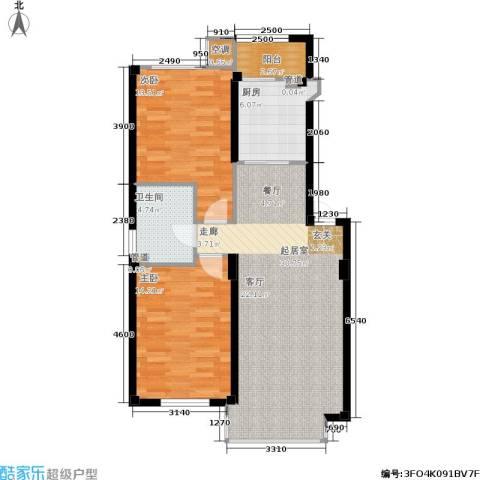 佰世雅阁2室0厅1卫1厨102.00㎡户型图