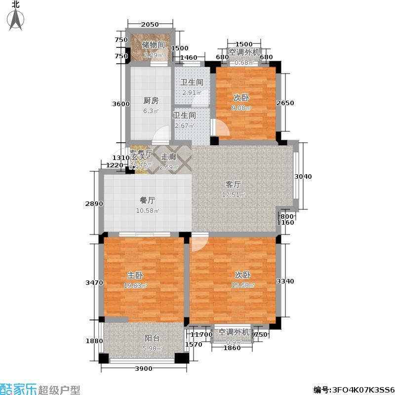 合肥107.83㎡两阳台10783m2户型