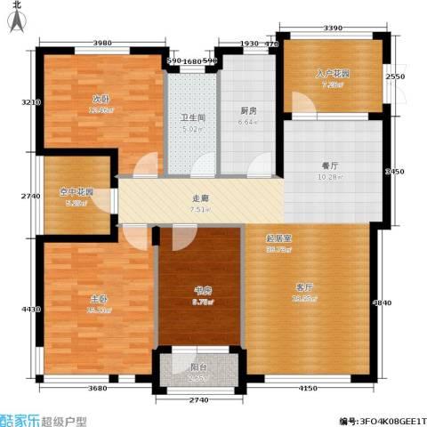 全统・西山丽水3室0厅1卫1厨142.00㎡户型图