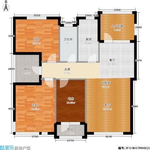 全统・西山丽水3室0厅1卫1厨148.00㎡户型图