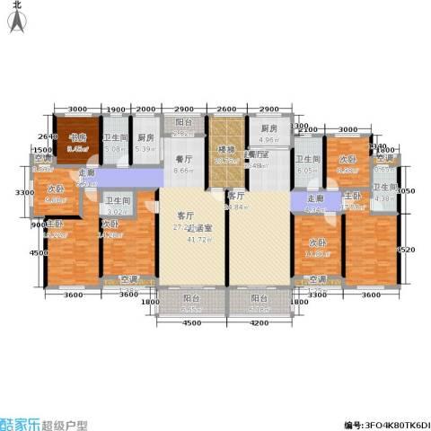 金地康城7室0厅4卫2厨222.71㎡户型图