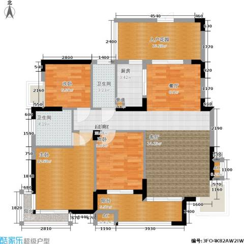 金域中央5期3室0厅2卫1厨129.00㎡户型图