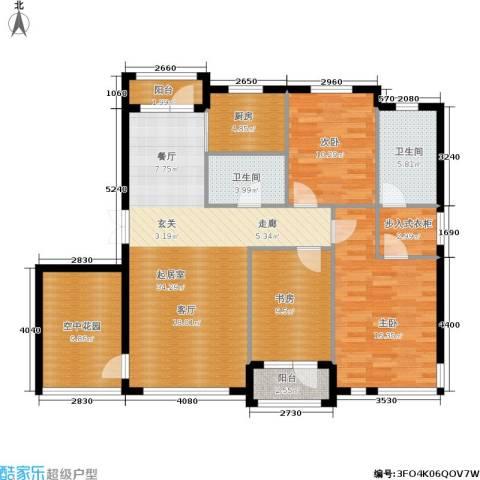 全统・西山丽水3室0厅2卫1厨144.00㎡户型图
