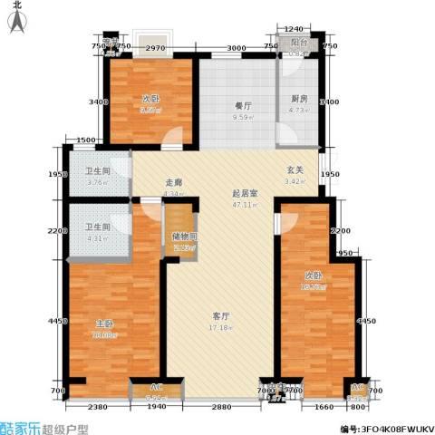 德馨苑3室0厅2卫1厨123.71㎡户型图