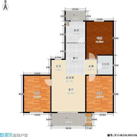 恒运雅居3室0厅1卫1厨114.00㎡户型图
