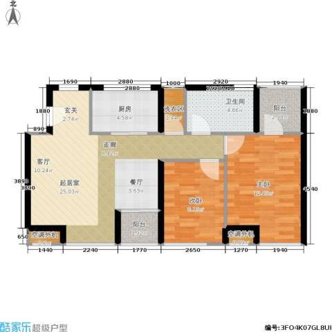 城市天籁2室0厅1卫1厨62.26㎡户型图