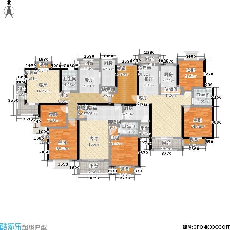 保利金爵公寓二期楼层平面图户型