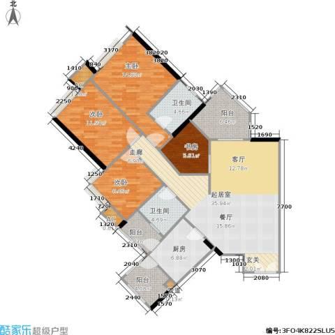 时代玫瑰园4室0厅2卫1厨118.00㎡户型图