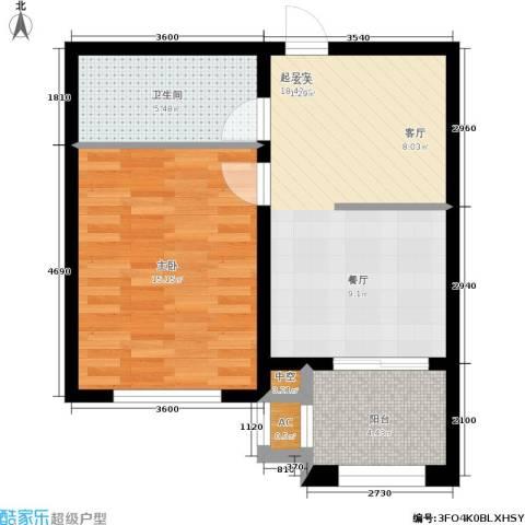 阳光帕提欧1室0厅1卫0厨64.00㎡户型图