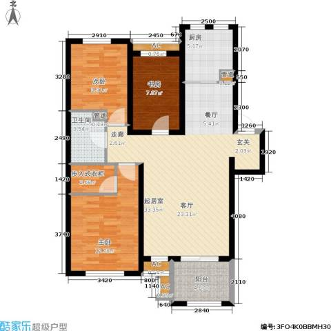 阳光帕提欧3室0厅1卫1厨118.00㎡户型图