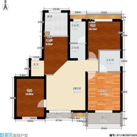 阳光帕提欧3室0厅2卫1厨125.00㎡户型图