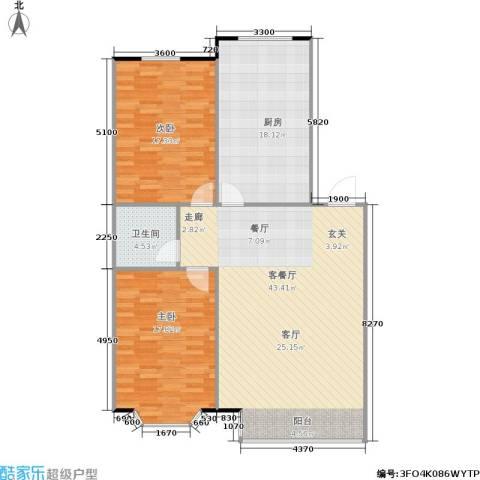 嘉麟花园2室1厅1卫1厨133.00㎡户型图