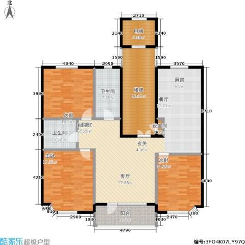 世嘉星海二期3室0厅2卫0厨192.00㎡户型图