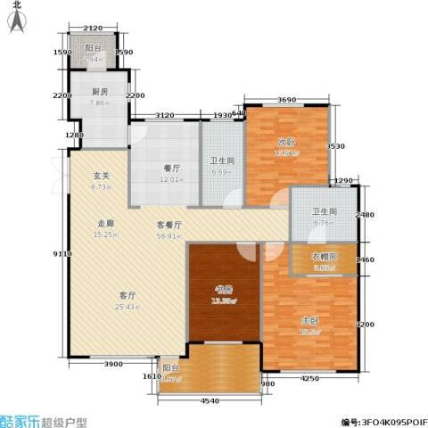 豪森茗家3室1厅2卫1厨149.00㎡户型图