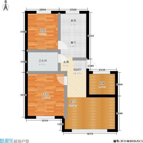 御泉华庭2室1厅1卫0厨85.00㎡户型图
