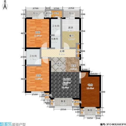 城市经典3室0厅2卫1厨110.00㎡户型图