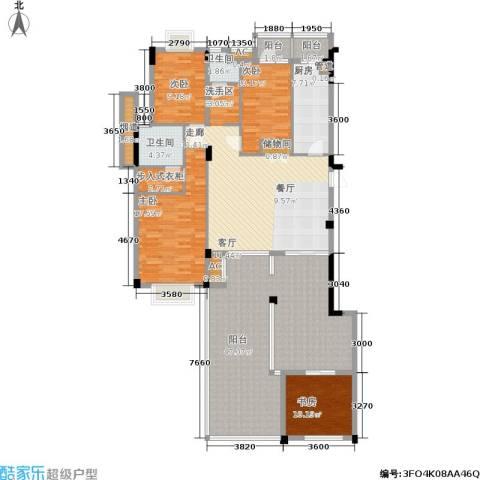 水木青华・小小岛 小小岛 水木青华4室0厅2卫1厨153.71㎡户型图