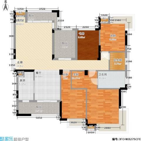 金域中央5期3室0厅2卫1厨183.00㎡户型图