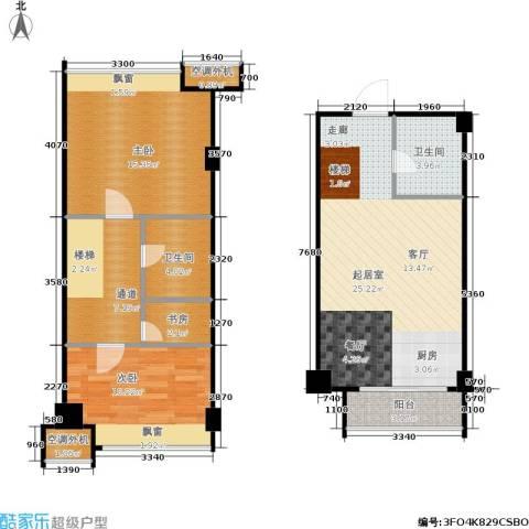 新生活摩尔城柠檬墅3室0厅2卫0厨83.00㎡户型图