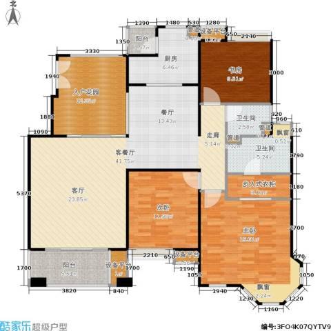中海湖滨一号3室1厅2卫1厨166.00㎡户型图
