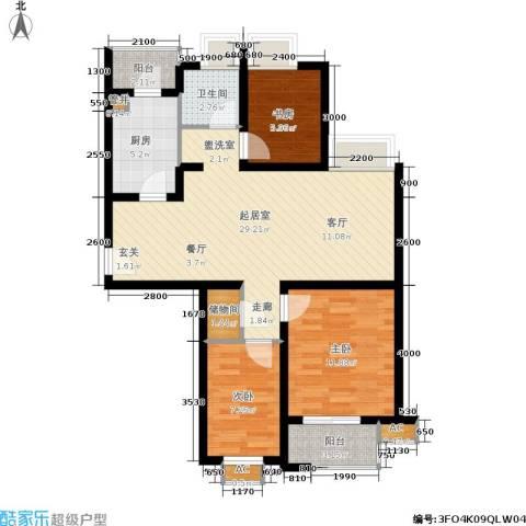 东渡国际青年城3室0厅1卫1厨102.00㎡户型图